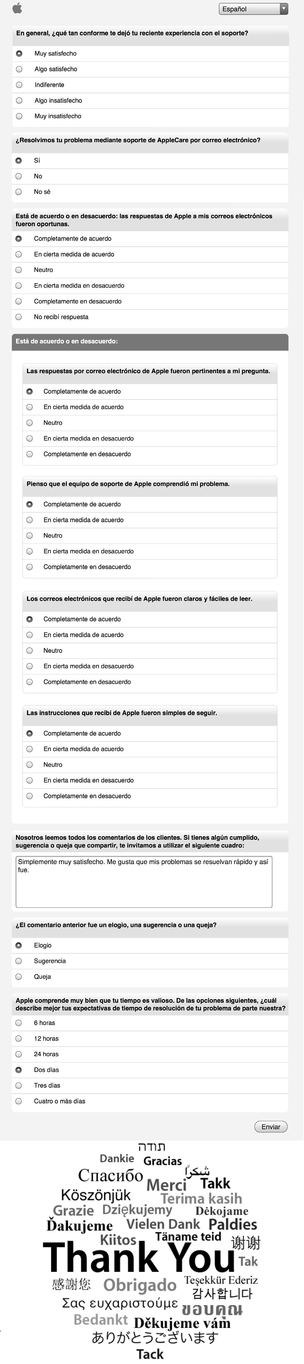 Encuesta post-soporte